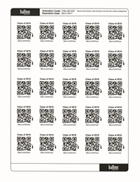 QR Code Stickers w/Insert Cards (25/pk)